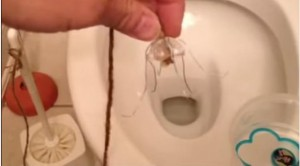 دراوردن انگشتر ازتوالت
